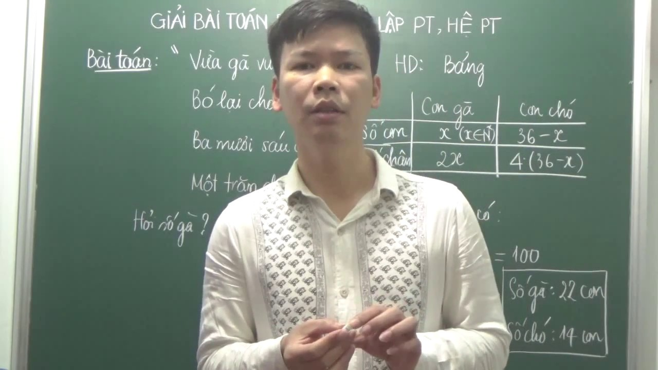 [Toán 8]-Giải bài toán bằng cách lập phương trình – Bài toán cổ