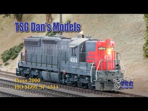 HO Scale DCC SD9 Southern Pacific Dans Models
