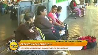 Liberan horarios de transporte público rumbo a Caacupé