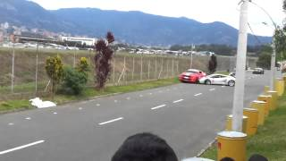 Lamborghini Gallardo LOSES IT and HITS American Muscle!