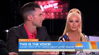 Blake, Pharrell, Xtina, Adam talk