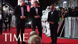BB-8 Greets Prince William And Prince Harry At