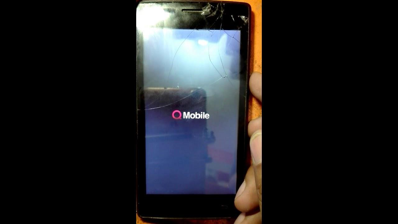 Q Mobile W50 pattern unlock hard reset