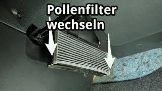 Innenraumfilter / Pollenfilter wechseln bei Skoda, VW, Audi, Seat