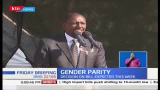Pass the two-third gender bill, it will empower women - DP Ruto