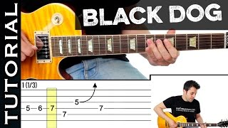 Como tocar Black Dog de Led Zeppelin en guitarra tutorial completo