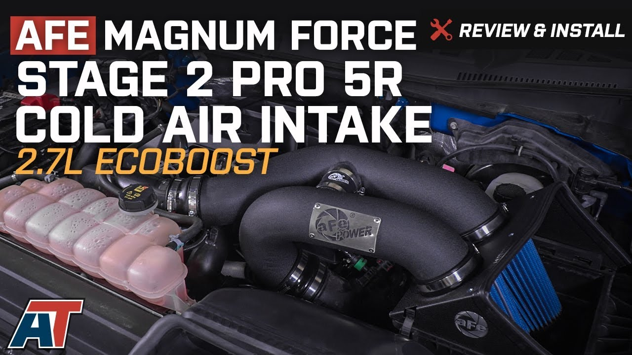 2015-2017 F150 AFE Magnum Force Stage 2 Pro 5R Cold Air Intake 2 7L  EcoBoost Review & Install