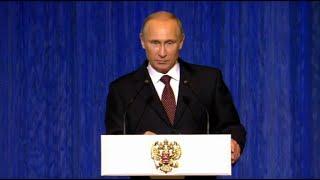 Президент России В.В.Путин на 70-летии МГИМО в Кремле