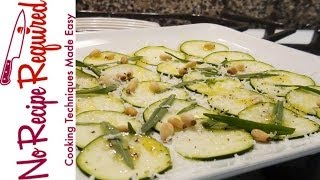 Zucchini Carpaccio Salad - Noreciperequired.com