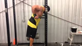 BJ Whitehead 135 x 8 Reps Weighted Dips
