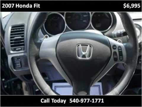 2007 Honda Fit Used Cars Roanoke VA