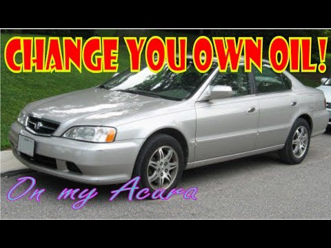 How To Change Oil On A Acura L YouTube - 1999 acura tl oil type