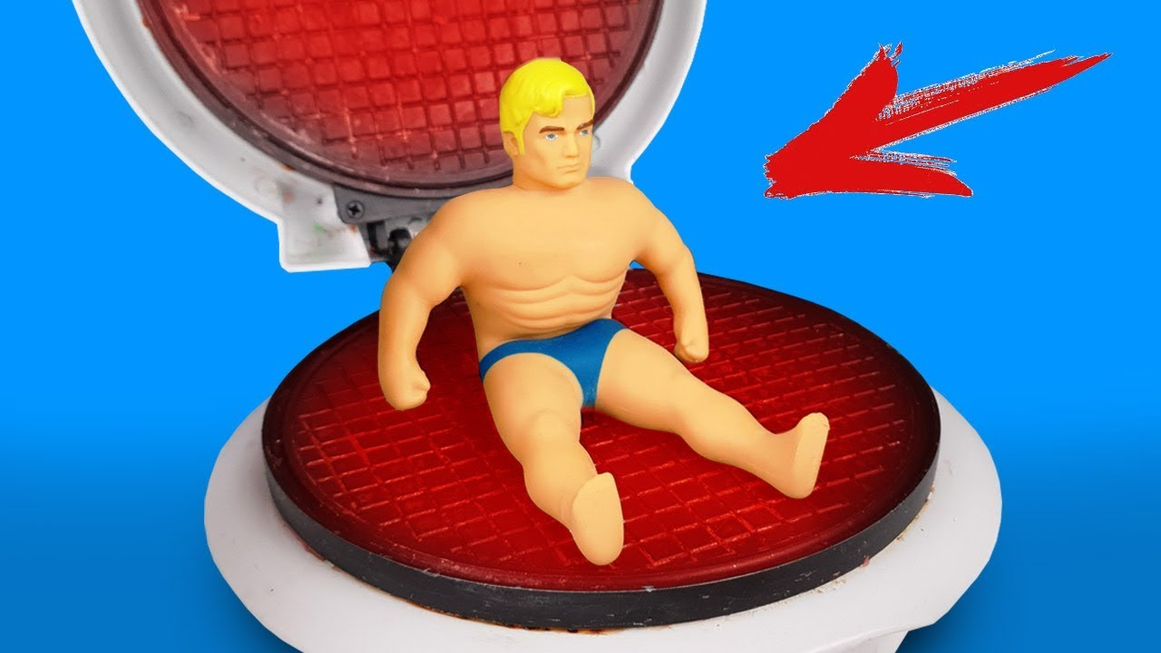 experiment-waffle-maker-vs-stretch-armstrong