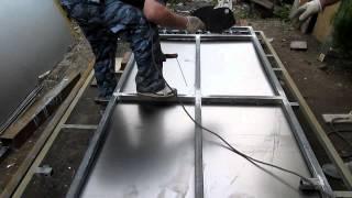 Сварка металлических ворот,часть4(Как сварить металлические ворота.Все этапы изготовления и монтажа распашных ворот первая часть http://www.youtube...., 2014-05-30T22:32:54.000Z)