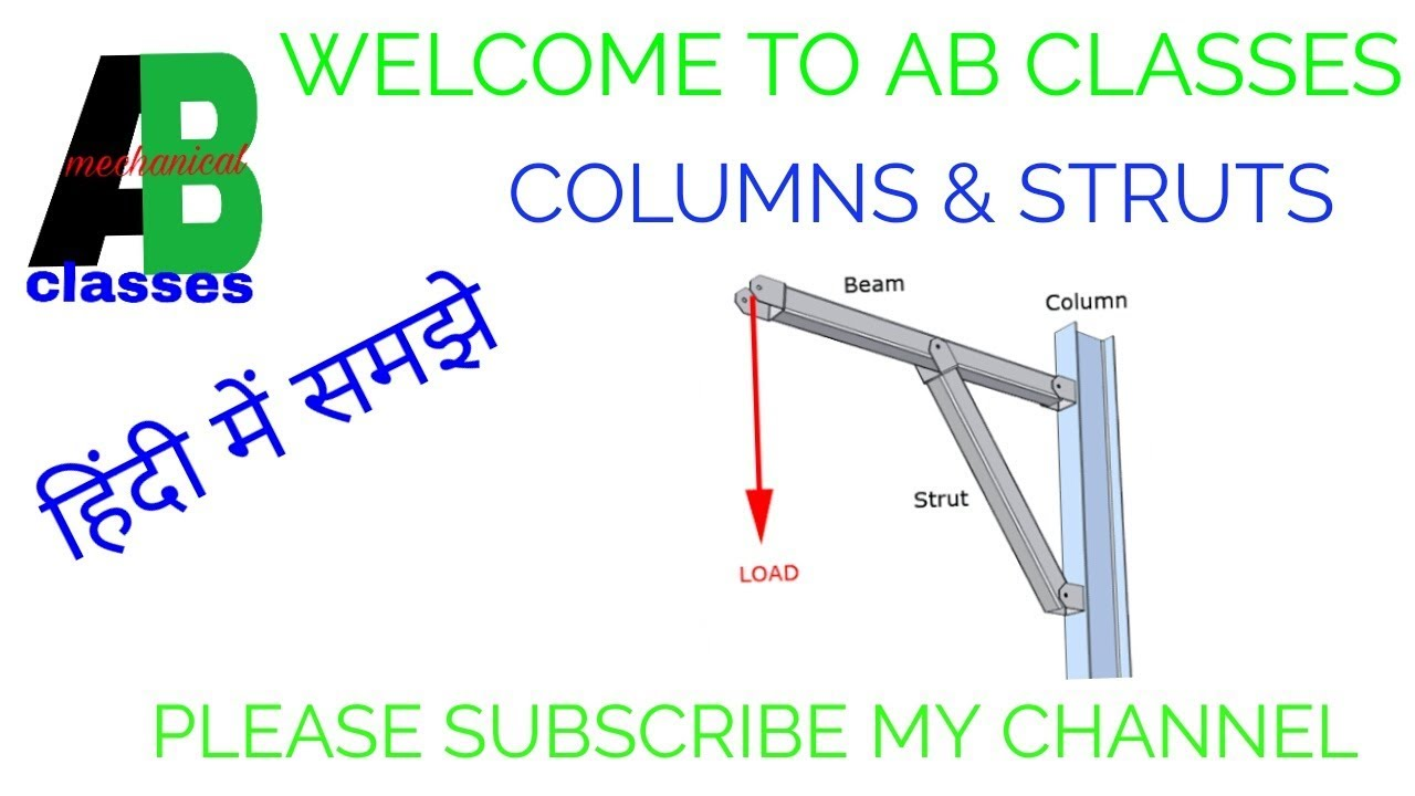 in hindi columns and struts in hindi ab classes columnsstruttypes of columnstrength of material