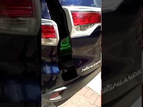 Rear Liftgate Problem In My 2017 Toyota Highlander