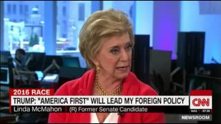 linda mcmahon thinks donald trump would be a good president