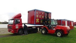 Transporten Circus Herman Renz aankomst Haarlem 2014 Deel 1