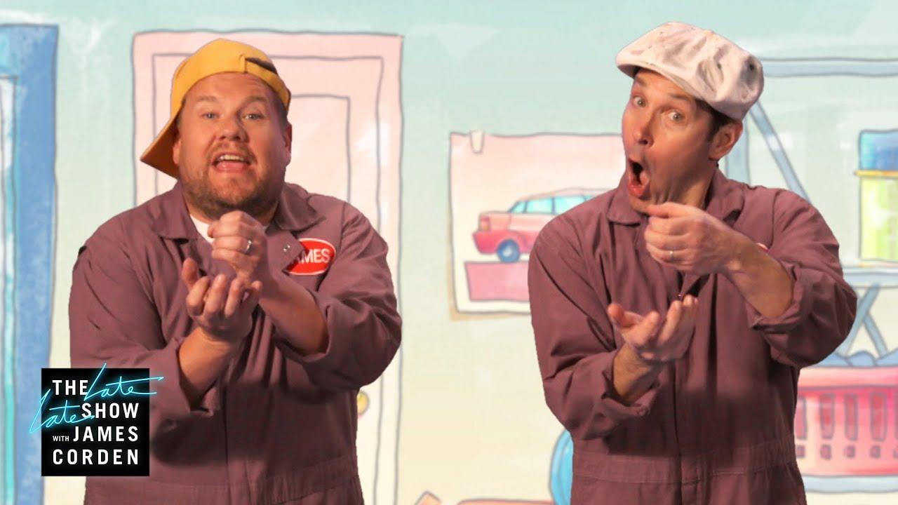 Paul Rudd & James Corden's Wildly Inappropriate Kids Duo