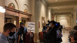 Protests as Georgia governor signs elections bill Georgia Gov. Brian Kemp has signed into law a sweeping Republican-sponsored overhaul of state elections. The bill signing was met by protests from some ..., From YouTubeVideos