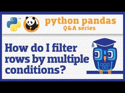 How Do I Apply Multiple Filter Criteria To A Pandas DataFrame?