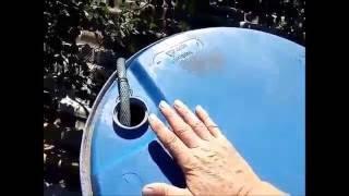 Теплая вода с целой бочки, моя схема
