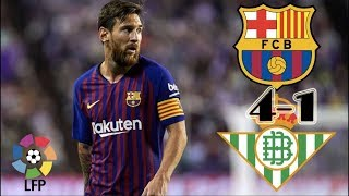 Messi Hat-Trick||Real Betis VS Barcalona 1-4 goal highlights