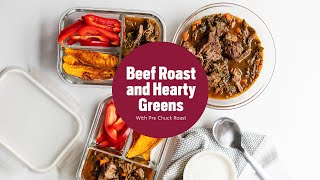 Beef Roast with Hearty Greens