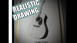 REALISTIC DRAWING - C.F. Martin Guitar