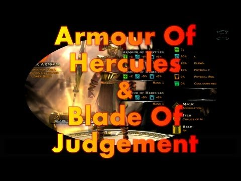 GOD OF WAR ASCENSION | ARMOUR OF HERCULES FULL SET | BLADE ...