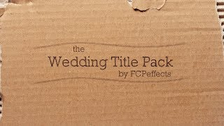 Apple motion template wedding titles fcpx video
