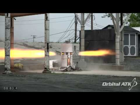Test Fire of Orbital ATK's Attitude Control Motor for NASA's Orion Spacecraft