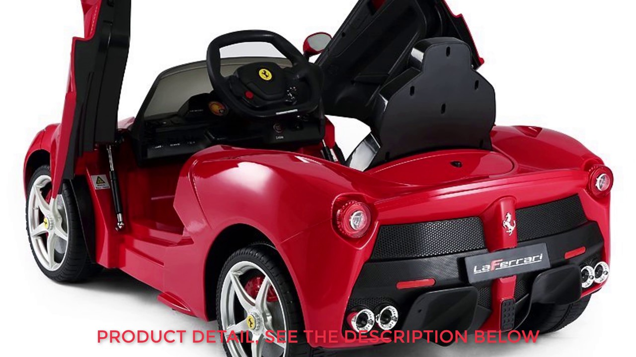 Rastar Ferrari Laferrari Kids Electric Ride On Car With