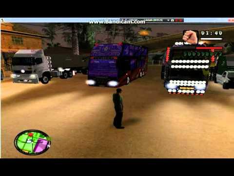 รวมรถบัส รถบรรทุก gta san Andreas เพลงแดนซ์มันๆ NONSTOP