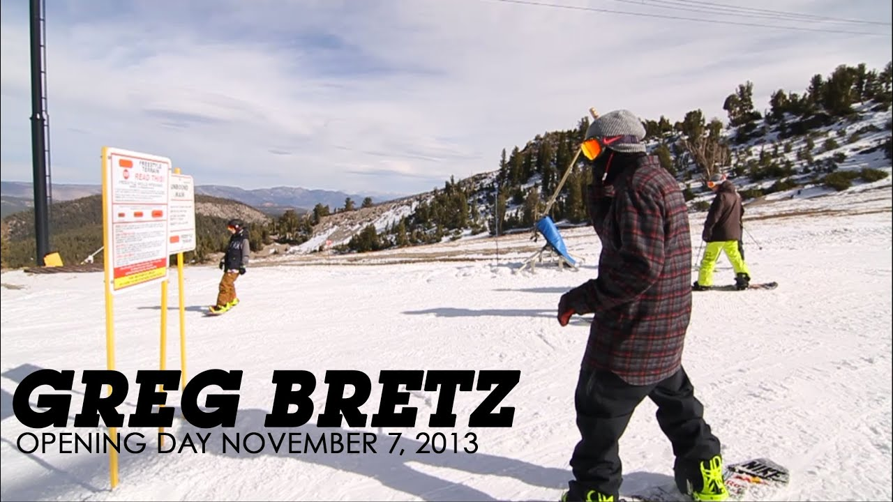Greg Bretz Mammoth Mountain Opening Day November 7, 2013 | Mammoth Unbound Park Lap
