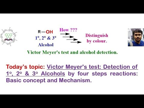 Victor Mayer Test For Detection Of Primary, Secondary And Tertiary Alcohol.