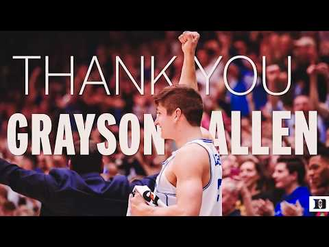 Grayson Allen Senior Night Speech (3/3/18)