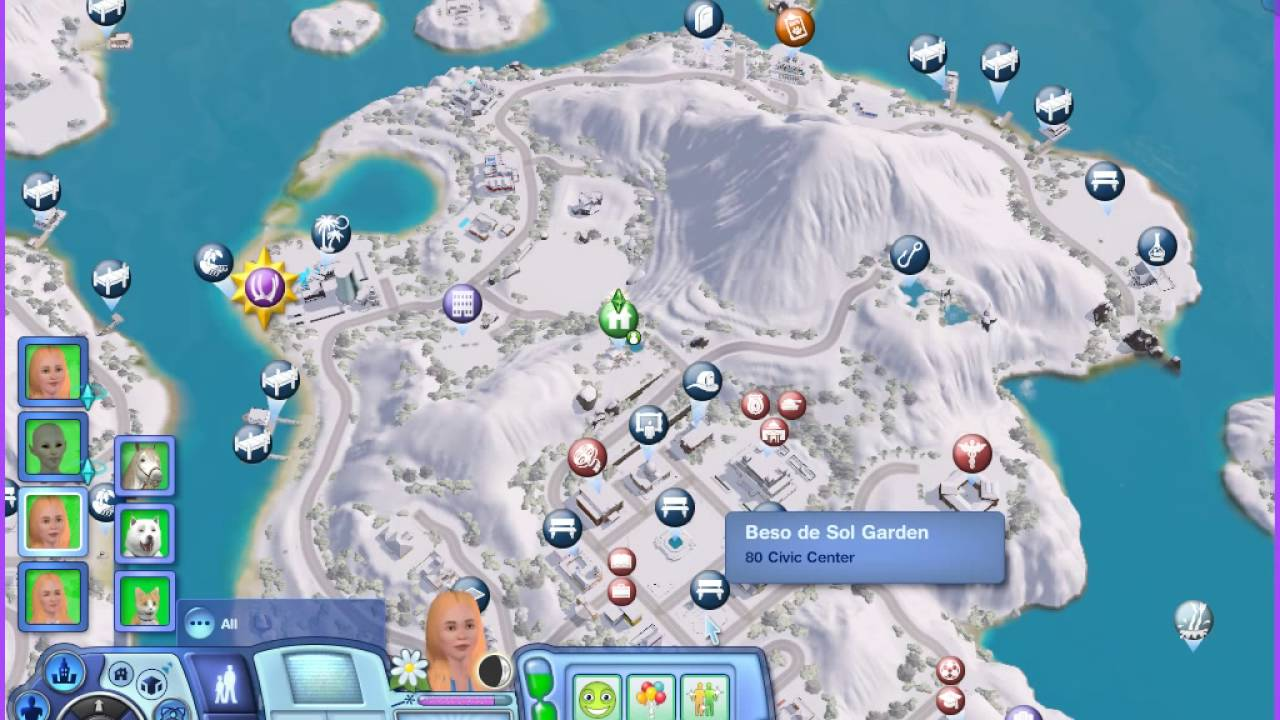 how to make it snow in sims 3