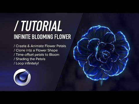 ( / ) C4D TUTORIAL - Infinite Blooming Flower