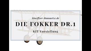 [Modellschau] Fokker DR.1 Dreidecker Slow Flyer KIT, 358 mm Spannweite, 1/20 Maßstab, Balsa