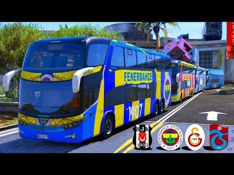4 Büyükler Takım Otobüsleri Ile KONVOY Yapıyoruz
