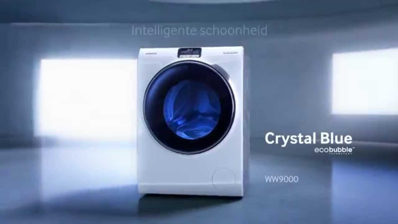 samsung crystal blue ecobubble intelligent touch screen