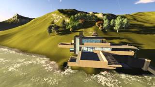 Casa de la cascada 3D