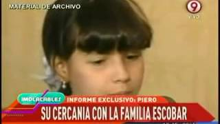 Lo qué unió a Piero con la hija de Pablo Escobar