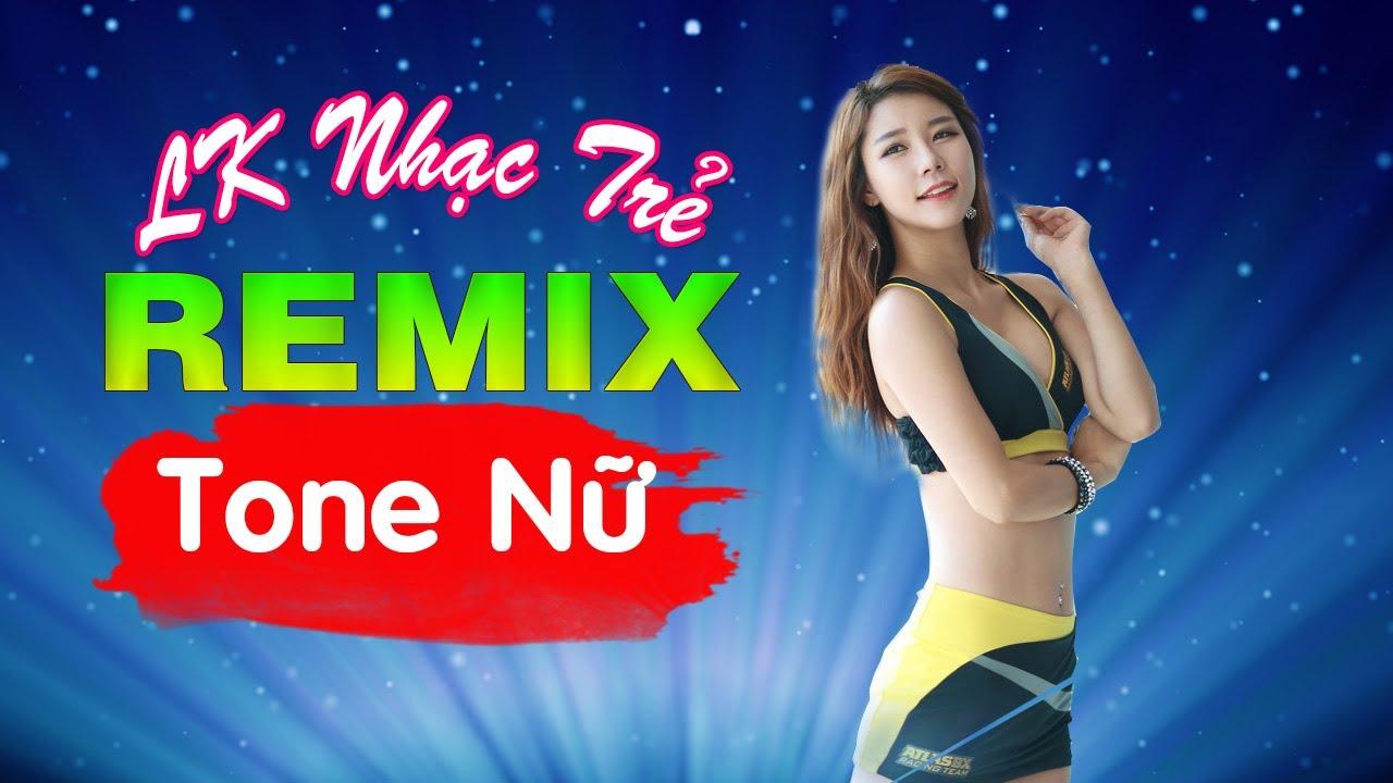 Karaoke Tổng Hợp   LK Hãy Đến Với Em Remix - Tone Nữ