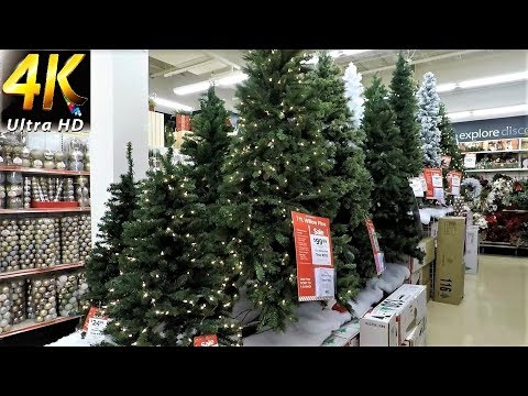 MICHAELS CHRISTMAS DECOR - Christmas Shopping Christmas Trees Decorations Ornaments (4K)