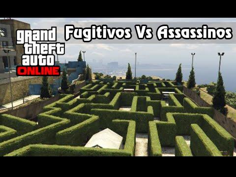 GTA V Online Versus #3: Fugitivos Vs Assassinos no Labirinto