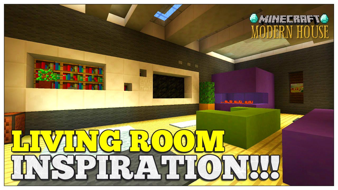 Modern Living Room Minecraft minecraft: living room inspiration | living room designs & ideas