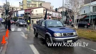 Οι αγρότες στο κέντρο της Κοζάνης