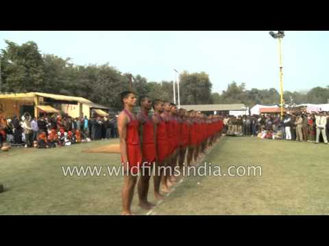 CISF jawans demonstrate their Malkhamb skills